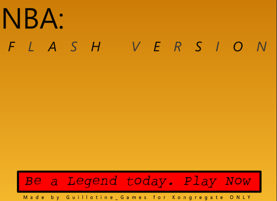 NBA 2K10 Basketball: Flash Version Browser The title screen