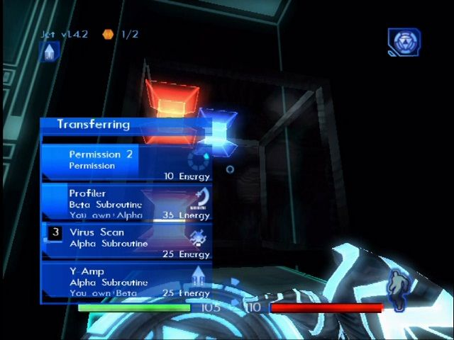 "TRON 2.0 Xbox ""Archive bins"" have important items and programs to be downloaded."