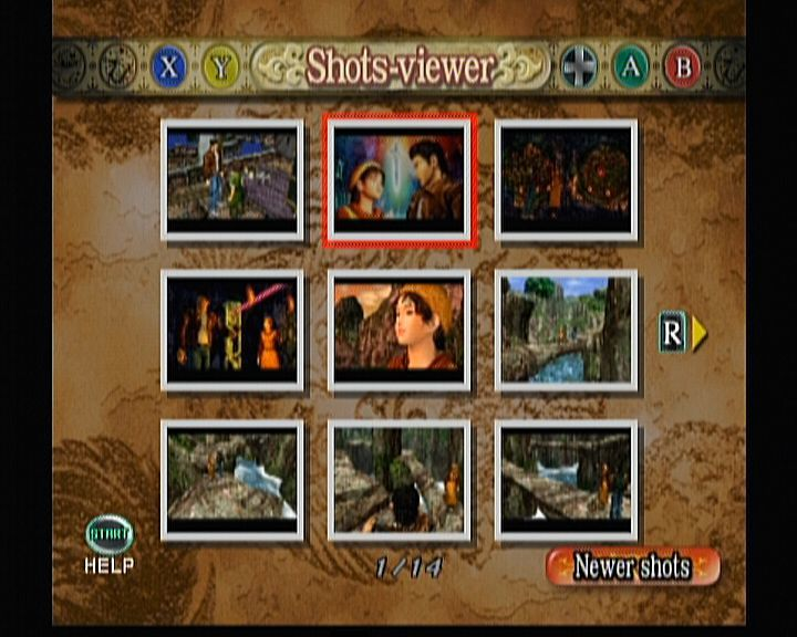 Shenmue II Xbox Shenmue II - Shots-viewer allows you to see the shots that you've captured during the game.
