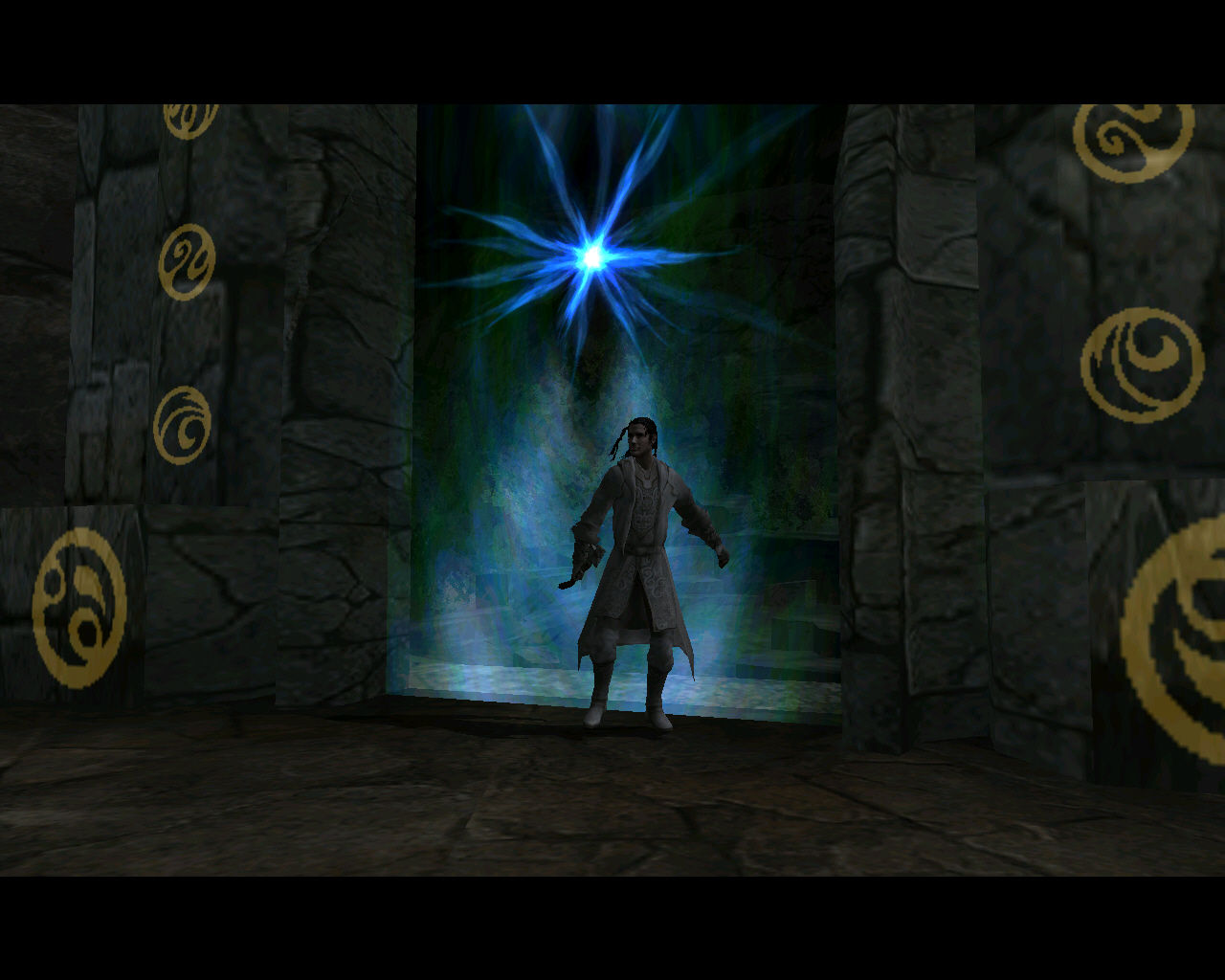 Forgotten Realms: Demon Stone Windows Our wizard buddy prefers more of a staged entrance through a portal.