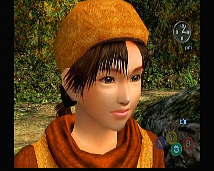 Shenmue II Xbox Shenmue II - When you are able to do certain action (e.g. talk, open, etc.), the buttons will shift to appropriate icon to notify you of that.