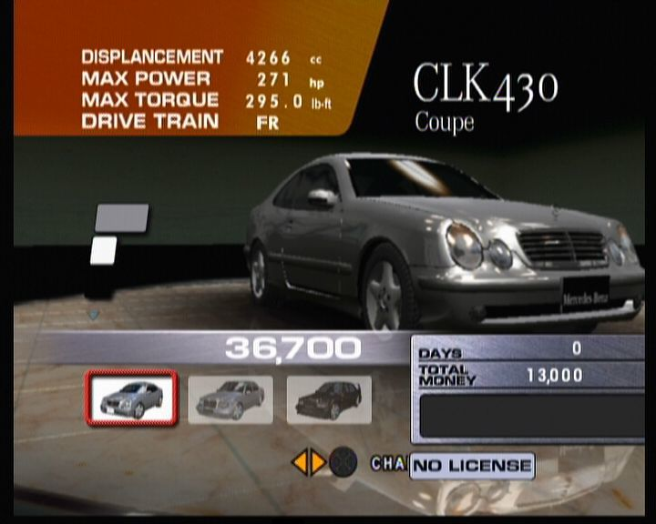 Sega GT 2002 Xbox When you start a so-called campaign, you won't be able to buy better and more expensive cars at first.