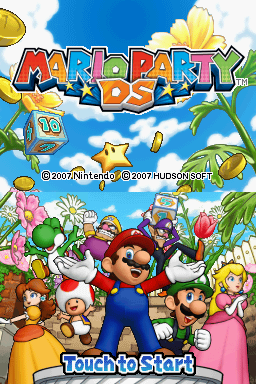 Mario Party DS Nintendo DS Title screen.