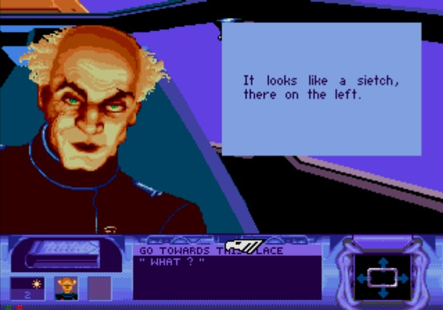 Dune SEGA CD Duke's weapon master and your mentor, Gurney Halleck, won't much resemble to Patrick Stewart, but will have a strong aura of trust for you.
