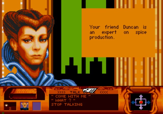 Dune SEGA CD Talking to your mother, Jessica.