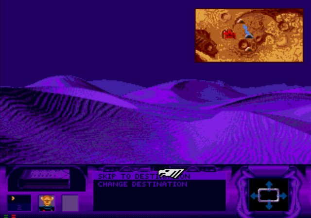 Dune SEGA CD Riding in an ornithopter during the night.