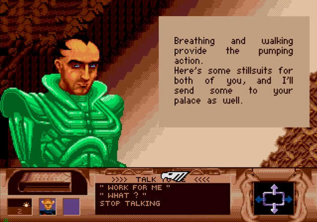 Dune SEGA CD Getting some Fremen to join your side is a first step towards ridding this planet of Harkonnen menace.