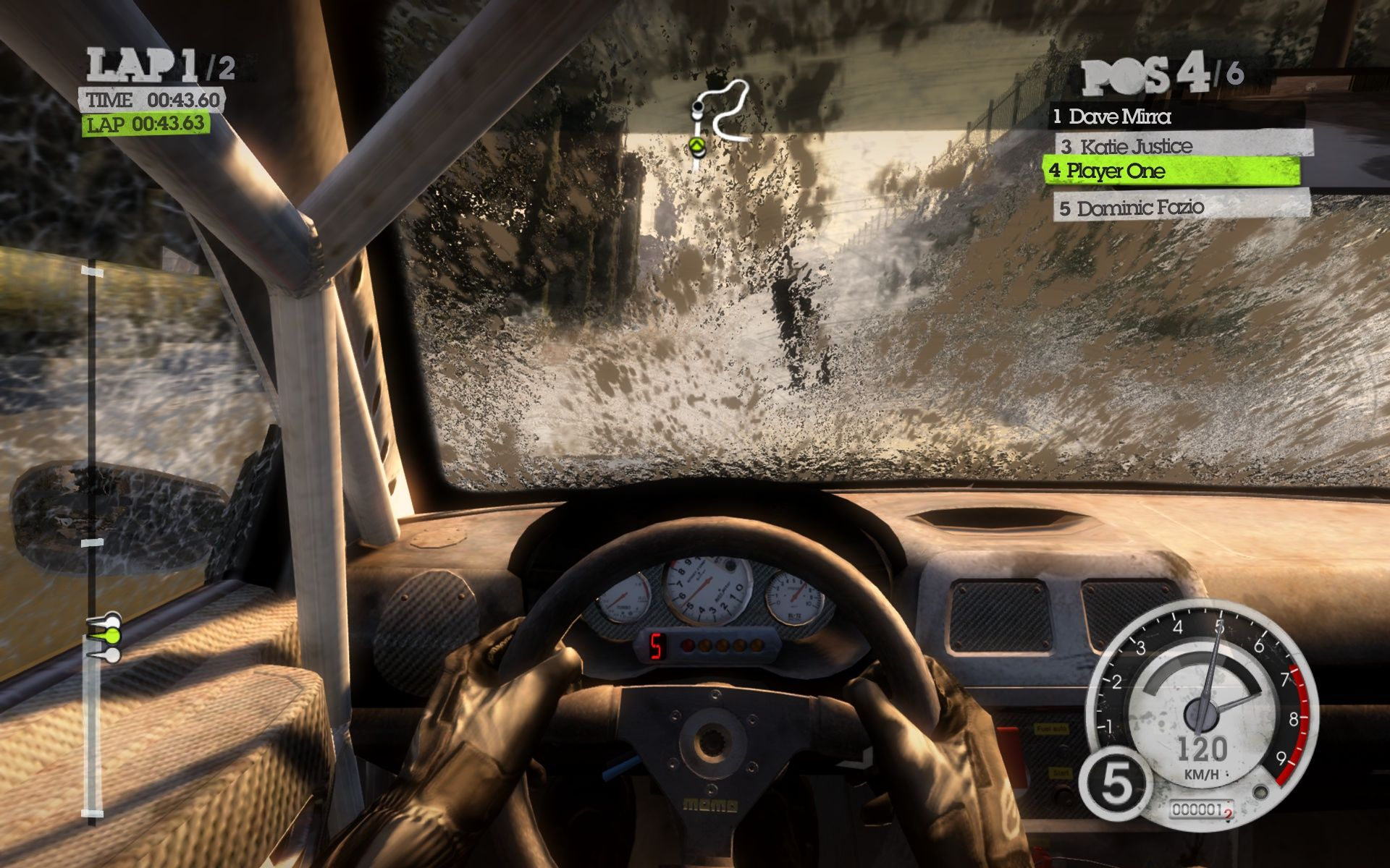 DiRT 2 Windows Although I don't see anything anymore: that looks awesome!