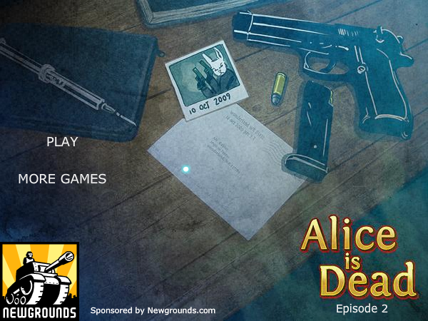 Alice is Dead: Episode 2 Browser Title screen