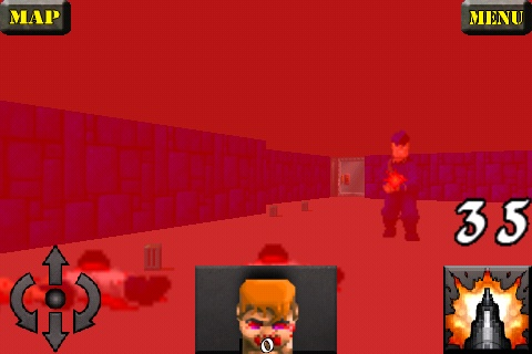 Wolfenstein 3D iPhone I died...