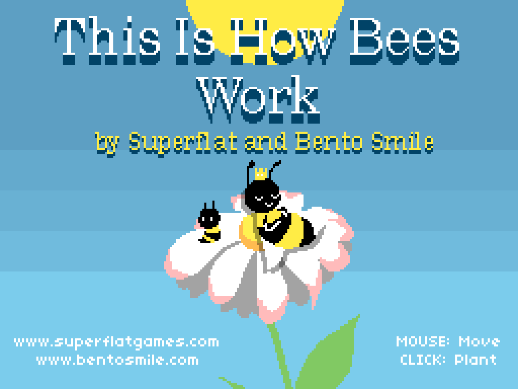 This is How Bees Work Windows Title screen