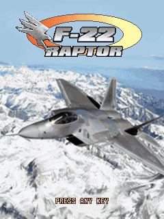 F-22 Raptor J2ME Title screen