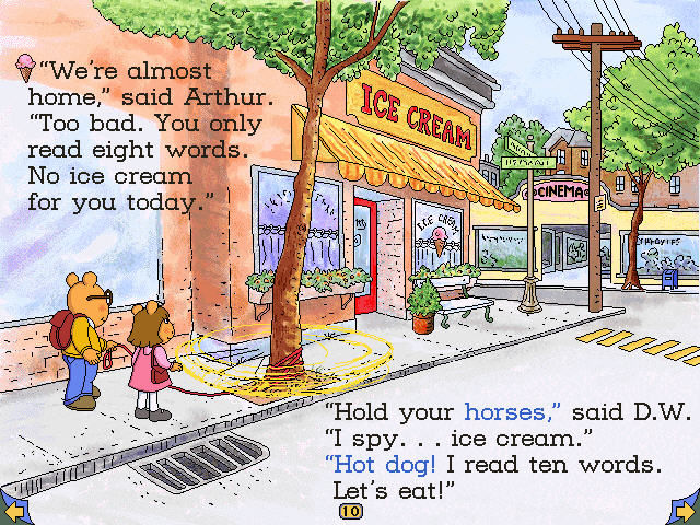 Arthur's Reading Race Windows Pal is a source of fun in pages