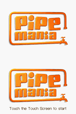 Pipe Mania Nintendo DS Title screen.