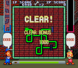 Pipe Dream SNES Clear! Also, you get 500 bonus points for each cross