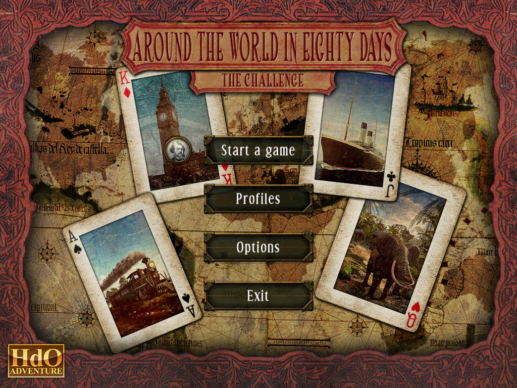 Around the World in Eighty Days: Phileas Fogg Windows Main menu