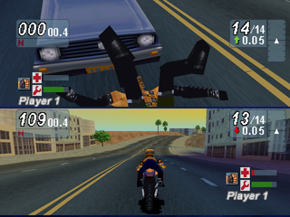 Road Rash: Jailbreak PlayStation Hit by a car