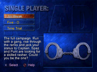 Road Rash: Jailbreak PlayStation Single player modes