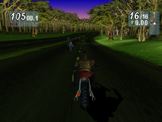 Road Rash: Jailbreak PlayStation Forest track