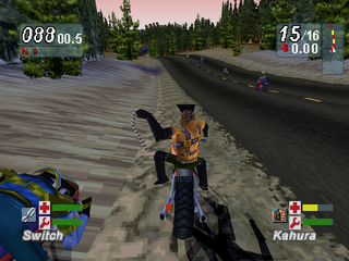Road Rash: Jailbreak PlayStation Using the chain.