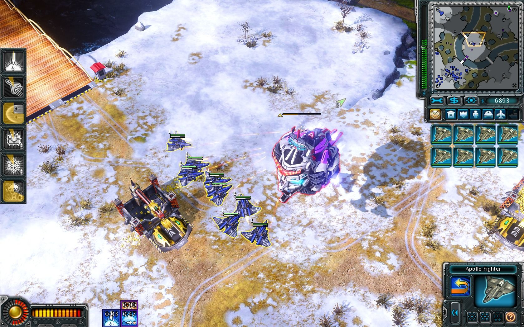 Command & Conquer: Red Alert 3 - Uprising Windows The new flying fortress of the Empire will obliterate your forces if you don't react quickly.