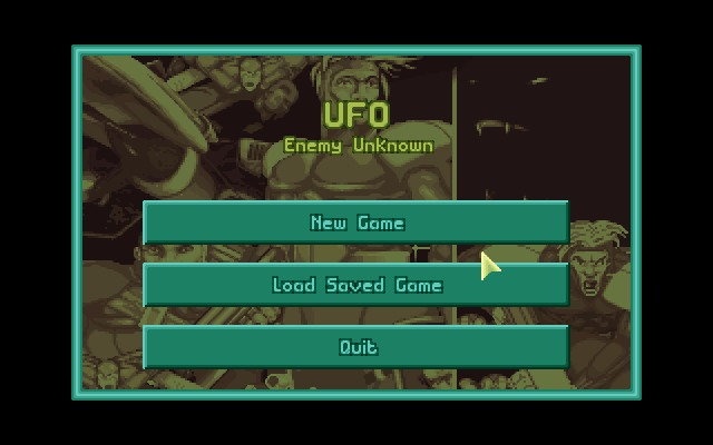 X-COM: UFO Defense Windows Main menu.