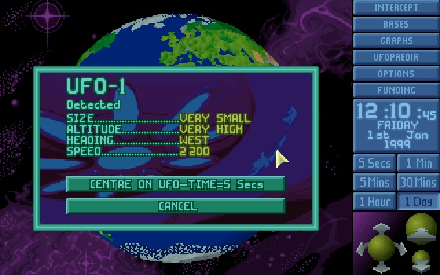 X-COM: UFO Defense Windows First contact.
