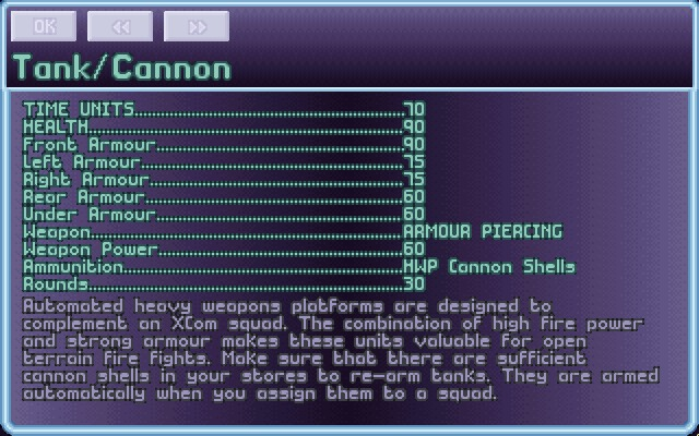 X-COM: UFO Defense Windows Check UFOpedia for info about pretty much anything.