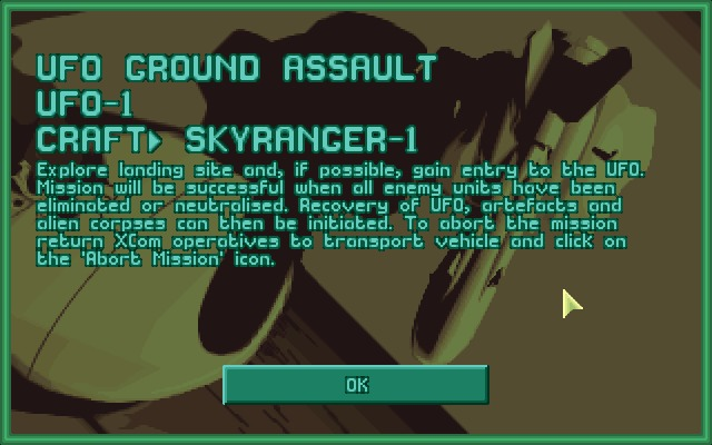 X-COM: UFO Defense Windows Mission objective is rather straight-forward.