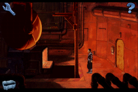 Beneath a Steel Sky iPhone The furnace room.