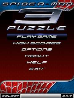 Spider-Man 3 Puzzle J2ME Main menu