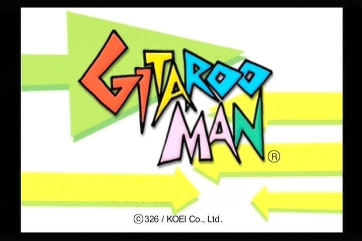 Gitaroo Man PlayStation 2 Title screen.