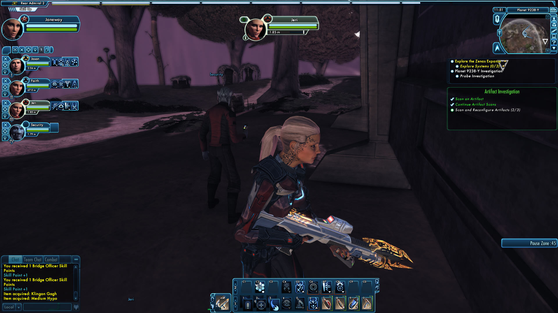 Star Trek Online (Gold Edition) Windows Exploring with TR-116A Sniper Rifle