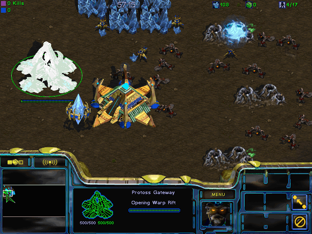 StarCraft Windows Constructing a base in Battle.net multiplayer.
