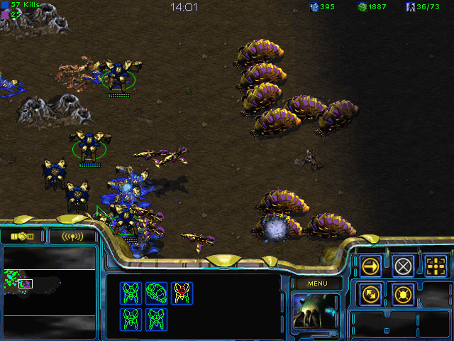 StarCraft Windows Trying to fend off the coming slaughter.