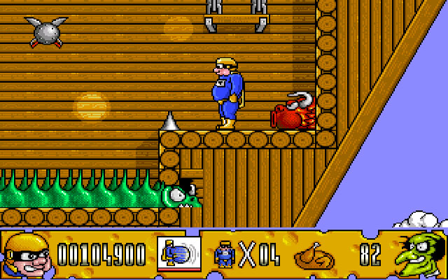 Fatman: The Caped Consumer Amiga Roy on a pirate ship