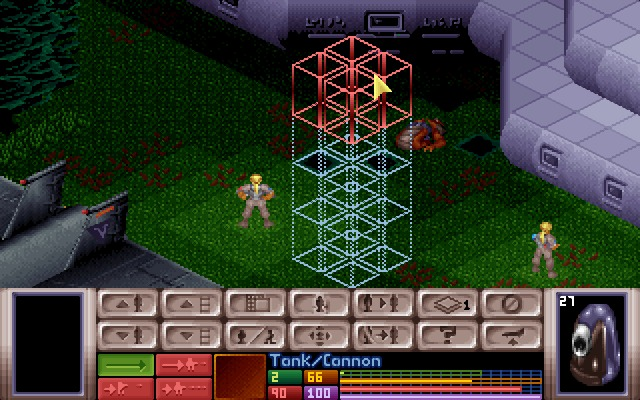 X-COM: UFO Defense Windows Large UFOs have several floors of horror to explore.