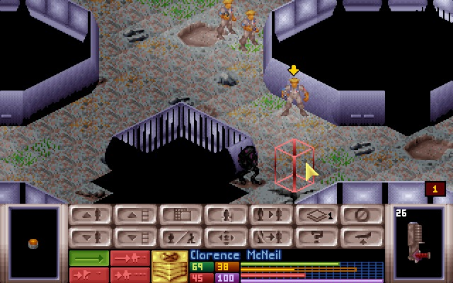X-COM: UFO Defense Windows Lower part of the large UFO does not seem to be connected.