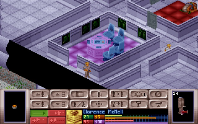 X-COM: UFO Defense Windows Control room looks empty, usually there's a leader or navigator inside.
