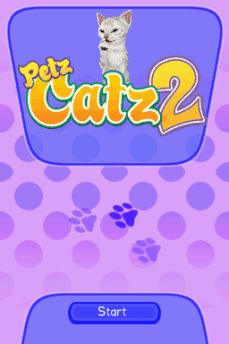 Petz: Catz 2 Nintendo DS Title screen.
