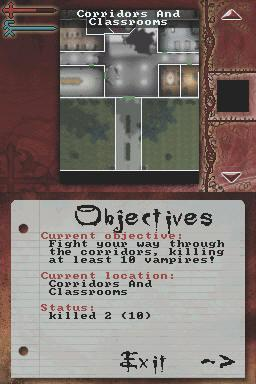 Buffy the Vampire Slayer: Sacrifice Nintendo DS Menu