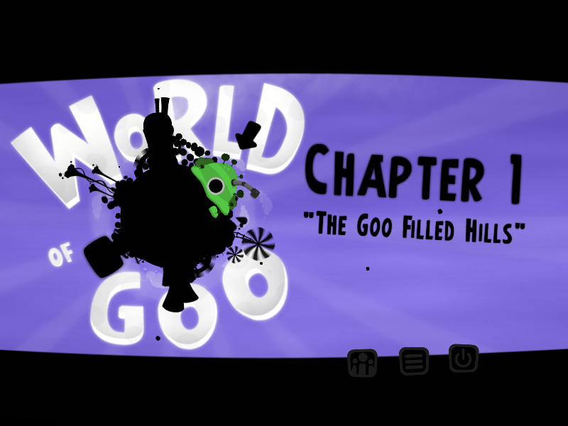 World of Goo Linux The chapter can be selected from the first screen.
