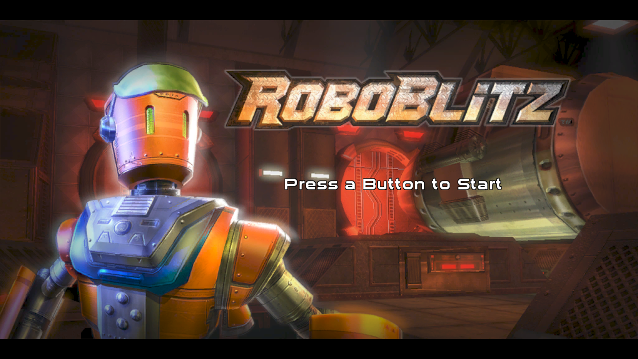 RoboBlitz Windows Title screen