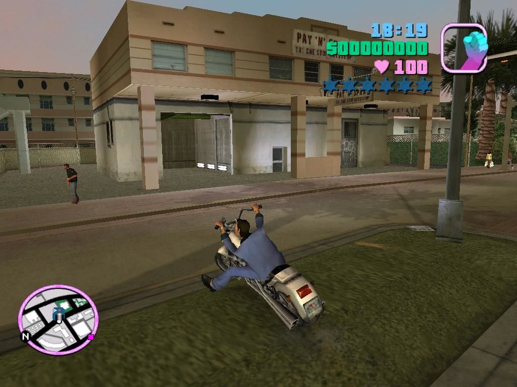 Grand Theft Auto: Vice City Windows Motorcycles require new methods; they're harder to stop, harder to turn, and you can fall off easier.
