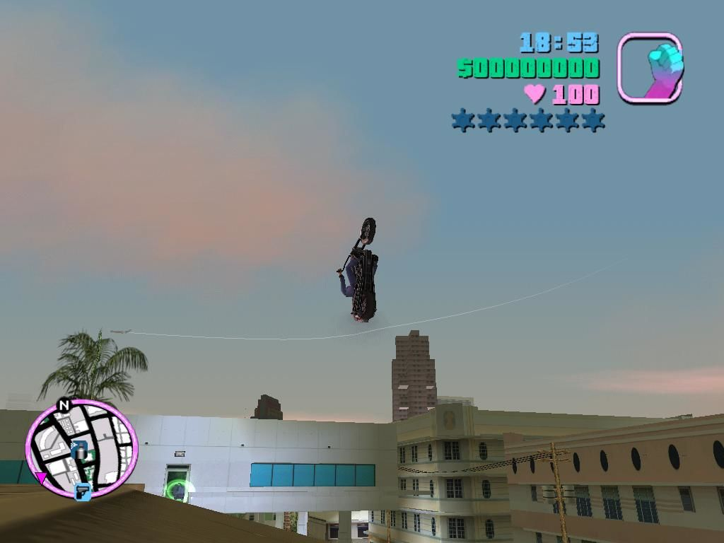 Grand Theft Auto: Vice City Windows This jump looked fine at the beginning.  I don't want to think of the landing.