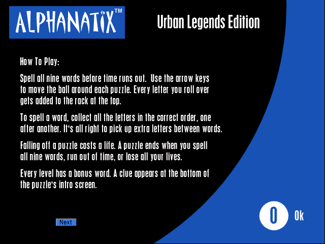 AlphaNatix: Urban Legends Edition Windows Instructions