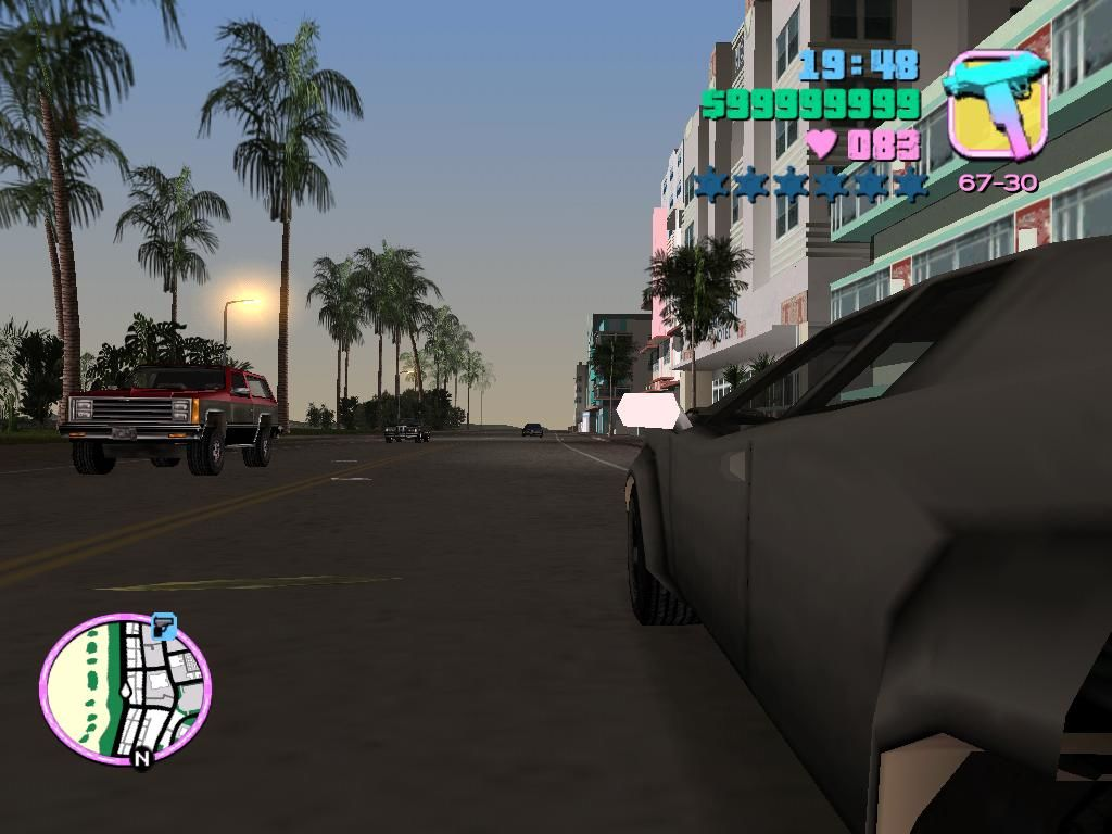 Grand Theft Auto: Vice City Windows While not very helpful, the side view is cool.