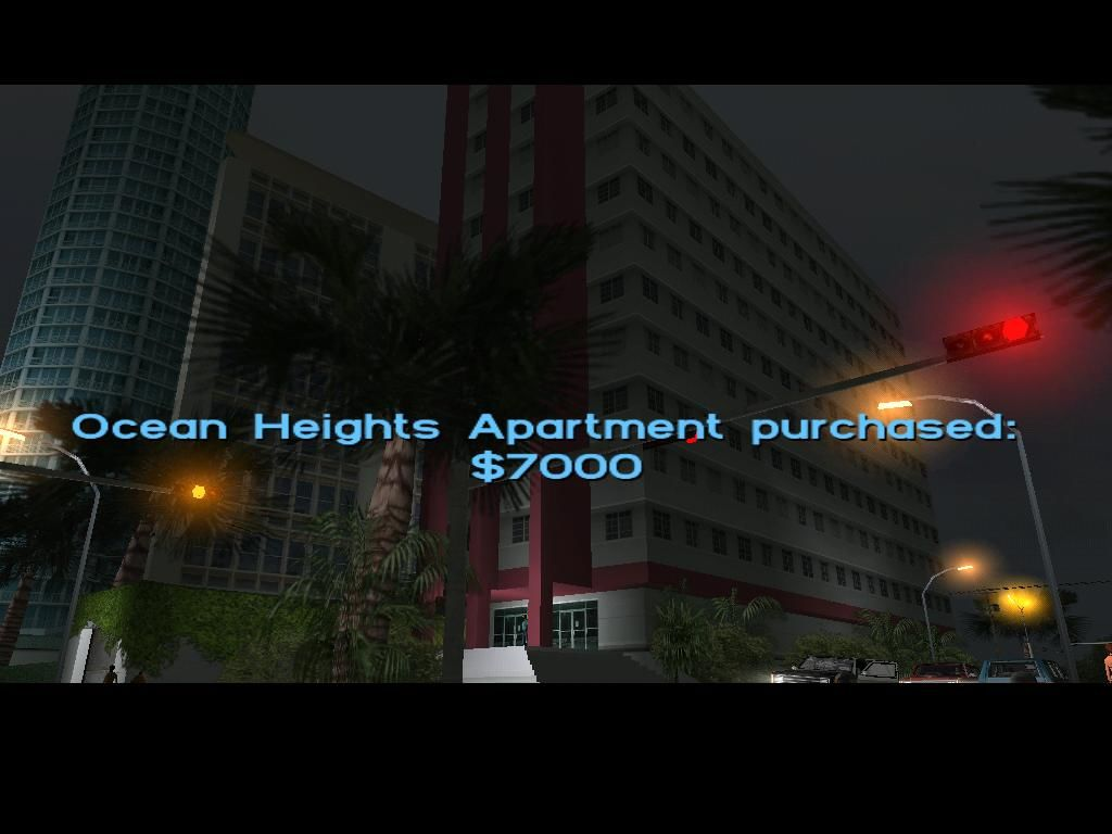 Grand Theft Auto: Vice City Windows I just bought an apartment.  This gives me another place to save my game, and another garage.
