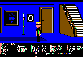 Maniac Mansion Apple II Hallway.