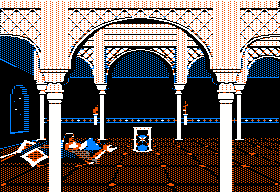 Prince of Persia Apple II Cutscene - The princess watches the hour glass slowly run out...